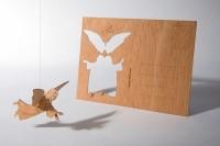 "Zedernholz Postkarte - ""Engel"""