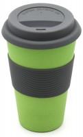 """Kaffeebecher Bambus """"To Go"""", grün, 13cm"""
