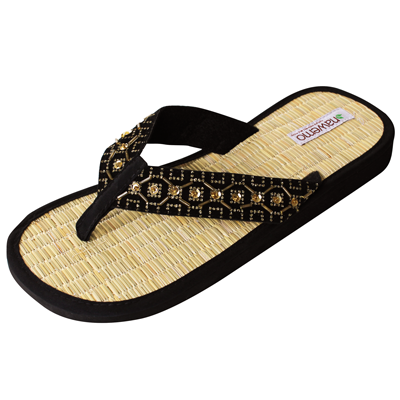 "Zimt-Slipper Nawemo ""Pearly gold"""