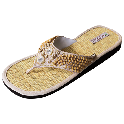 "Zimt-Slipper Nawemo ""Pearly natur"""