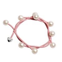 Haargummi Pearl Cluster Champagne Pink